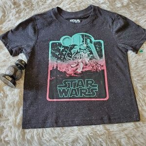 STAR WARS BOY'S BLACK TSHIRT SIZE 5T